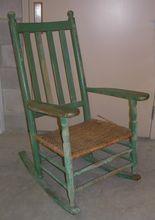 Antique Kennedy Carolina Porch Rocker w/ Original Green Paint