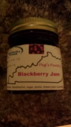 Blackberry Jam, it's good too and I also make Strawberry Jam. All ready to sell.
