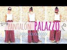 Como Hacer un Pantalon Palazzo - Escuela de costuras Plazzo Pants, Wrap Pants, Sewing Pants, Printed Palazzo Pants, Sewing Tutorials, Sewing Tips, Hippie Chic, Clothing Patterns, Diy Clothes