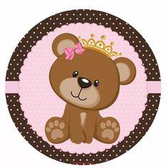 Tema: Ursinha Princesa - 150 Adesivos Personalizados - R$ 70,00 em Mercado Livre