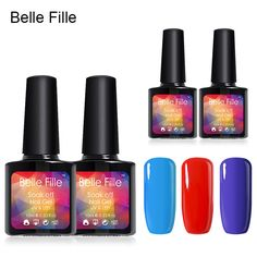 BELLE FILLE 10ml UV Gel Nail Polish Choose Any 8 Piece High Quality Color Lacquer LED or UV Lamp Needed Color Gel Polish #Affiliate