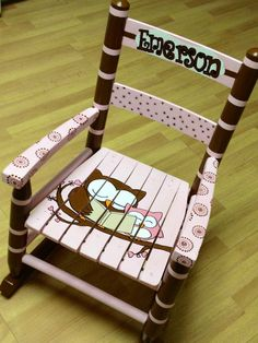 Child's Rocking Chair custom design by MakinItMamaStyle on Etsy, $125.00