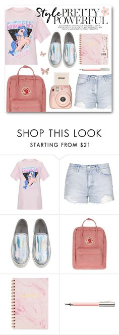 """""""Yerisistible #36"""" by itsyerisistible ❤ liked on Polyvore featuring My Little Pony, Topshop, Fjällräven, Faber-Castell, Fujifilm, Pink, pastel and pastelpink"""