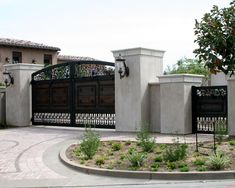 Rising Star Automatic Gates, LLC is an all service gate company specializing in automated gate systems, driveway gates, security gates and custom wrought iron fencing. Iron Front Door, Front Gates, Entrance Gates, Front Doors, House Gate Design, Fence Design, Driveway Entrance, Automatic Gate, Electric Gates
