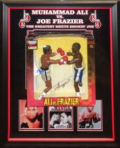 Muhammad Ali And Joe Frazier Signed Action Figures