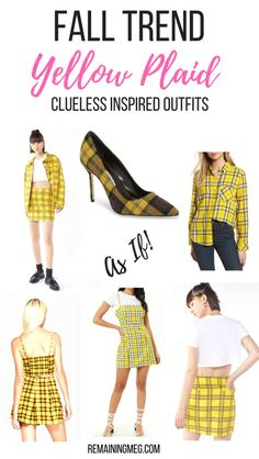 Fall Trend: Yellow Plaid Clueless Outfits inspired by Cher Horowitz - Source by jessswx outfits inspiration fashion Cher Clueless Costume, Clueless Outfits, Clueless Fashion, Clueless Style, Mode Outfits, Fall Outfits, Fashion Outfits, Fashion Group, Fashion Trends