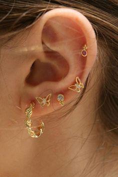 Faux Piercing Helix Ear Wrap Turquoise and Silver Dragonfly/cartilage ear cuff/false fake piercing/ohrklemme ohrclip manschette/ear jacket - Custom Jewelry Ideas Ear Jewelry, Cute Jewelry, Body Jewelry, Jewelry Accessories, Jewelry Ideas, Jewlery, Bridal Accessories, Girls Jewelry, Jewelry Holder