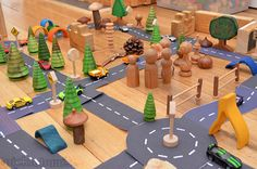 Free printable roads! Download, print and play roads! From @katepickle