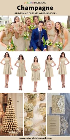 Champagne bridesmaid dresses in styles, tailor made, all sizes, high quality. Champagne Bridesmaid Dresses, Wedding Dresses, Bridesmaids, I Dress, Party Dress, Color Swatches, Ladies Dress Design, Bridal, Styles