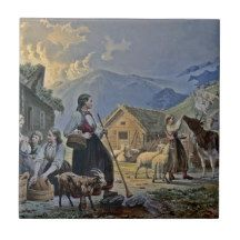 Shepherdess's Hut on the Mountain Tile