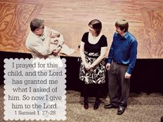 10 Bible Verses for Parents - Baby Dedication - 1 Samuel 1: 27 - 28 #FCBlogger
