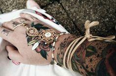 Tattoo hand boho style