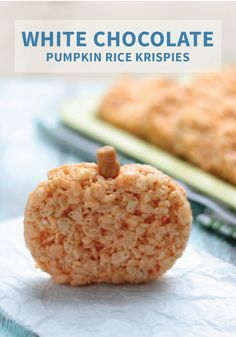 Rice Krispies Treats® show off their versatility with this recipe for White Chocolate Pumpkin Rice Krispies Treats®. With a chocolate candy stem, your kids will love helping you shape each dessert creation.
