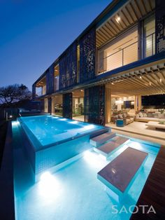 La Lucia located in the North Coast of the KwaZulu Natal province in South Africa by SAOTA | Interior Design by Antoni Associates