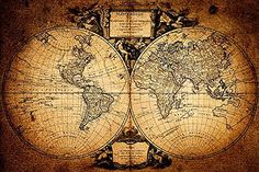 Welmeco Large Ancient Map of The World Wall Canvas Prints Retro Map Poster Framed and Stretched Painting Vinitage Old Map for Living Room Office Decoration pcs) Canvas Home, Wall Canvas, Antique World Map, Vintage World Maps, Vintage Travel, Vintage Art, Cool Wall Decor, Map Shop, Travel Wallpaper