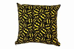 Batman Cushion Cover by BlossomvioletCrafts on Etsy