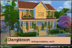 Blackys Sims 4 Zoo: Cherryblossom house by  ChiLLi • Sims 4 Downloads