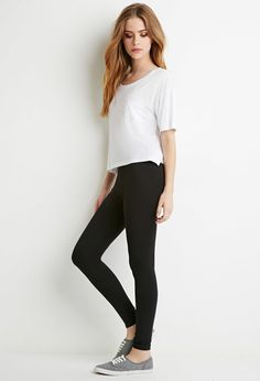 Organic Cotton-Blend Leggings Forever 21 Size Medium,II would like 3-4 black pairs. Maybe another color too.