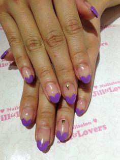 Purple heart nails