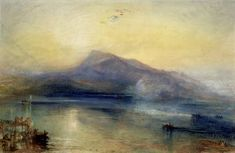 Joseph Mallord William Turner(1775‑1851)  Title: The Dark Rigi  Date1842  Watercolour on paper
