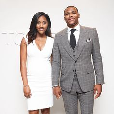 Russell Westbrook & his Wife looking dapper.