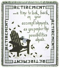 Personalized Retirement Tapestry Throw