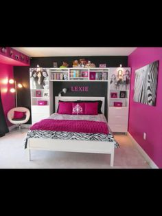 Super cute room ideas (I'd use red and black)
