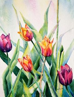 Ann Marie Potts - Original Watercolors - Rural Midwest Landscapes ...
