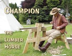 A shaving horse with recycled 2x4s? Perfect way to launch into a woodworking method with minimal investment.