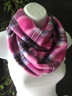Plaid Fleece Infinity Scarf