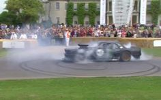 Watch Ken Block burn rubber in the mighty, V8-engined Hoonicorn Mustang on the   Goodwood hillclimb during the 2015 Festival of Speed
