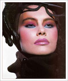 October 1986 by Daluke 90s Makeup, Cat Eye Makeup, Clown Makeup, Cosmetics & Fragrance, Makeup Cosmetics, Vintage Makeup Ads, Vintage Beauty, Beauty Case, Dramatic Makeup