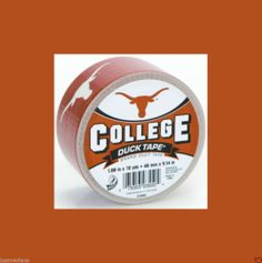 """Duck Brand University of Texas Longhorns College Logo Duct Tape-1.88"""" x 10 Yards - May 29, 2014 - $9.99 - #FreeShipping"""
