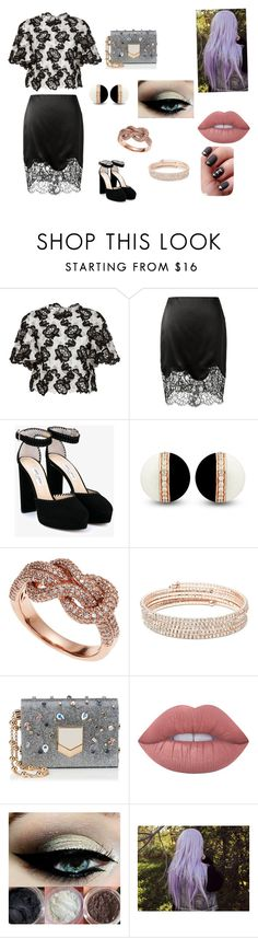 """Idk"" by ktbspa-and-loveislove on Polyvore featuring moda, Monique Lhuillier, Givenchy, Jimmy Choo, Effy Jewelry, Anne Klein y Lime Crime"