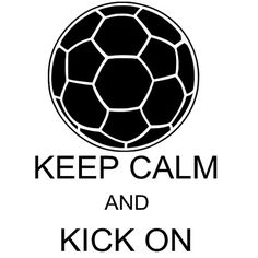 Soccer Decal KEEP CALM and Kick On Car Decal 5x7 by glendasgifts, $6.00