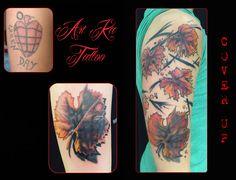 #tattoo #tatuaggio #coverup #coveruptattoo #artka #artkatattoo #artka #artkatattoo #foglie #foglietattoo #coperturatattoo #kattiusciacavaliere #pinerolotattoo #pinerolo #torinotattoo #torino #piemonte #pinterest #pinteresttattoo