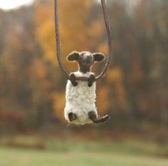 Tiny sheep necklace