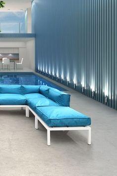 Copacabana Turquoise Ottoman