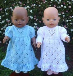 Image result for lacy heart doll dress knitting pattern