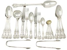 Sterling Silver Canteen of Cutlery for Eighteen Persons - Antique Victorian  SKU: A5137 Price: GBP £13,950.00  http://www.acsilver.co.uk/shop/pc/Sterling-Silver-Canteen-of-Cutlery-for-Eighteen-Persons-Antique-Victorian-50p8695.htm