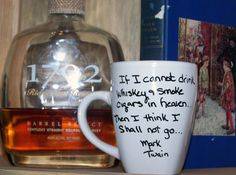 Lipstick Whiskey Girl-Famous Whiskey Quotes-Mark Twain Coffee Mugs. $12.00, via Etsy.