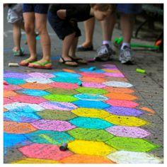 Sidewalk chalk.