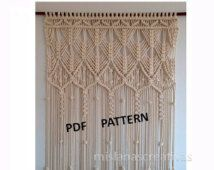 pdf instructions macrame curtain macrame curtain pdf and craft. Black Bedroom Furniture Sets. Home Design Ideas