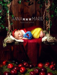 Crazy cute newborn photos -- the princess and book themes are especially amazing