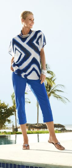 Chico's Summer Cool Cotton Utility Crop. Keep your cool in the season's most fabulous cotton shorts and crops.
