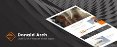 Donald Arch - Make Architecture PSD Great Again by Croshow DescriptionDonald Arch is a website PSD template for architecture website. It will make your website great again by providing prof
