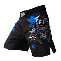 Women/'s Sports Shorts SKULL 2 Extreme Hobby Training  GYM MMA BBJ