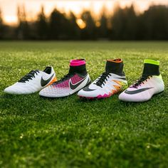 """☀️ Shine on any stage. Light up your season in the new Radiant Reveal Pack, available March 27th exclusively in the Nike Football App. #Mercurial…"""