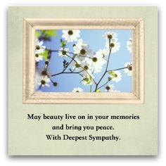 Free printable sympathy cards @ simplesympathy.com
