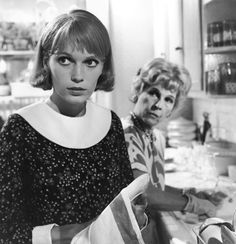 "Minnie Castevet (Ruth Gordon) to Rosemary Woodhouse (Mia Farrow): ""He chose you, honey! From all the women in the world to be the mother of his only living son!"" -- from Rosemary's Baby (1968) directed by Roman Polanski"